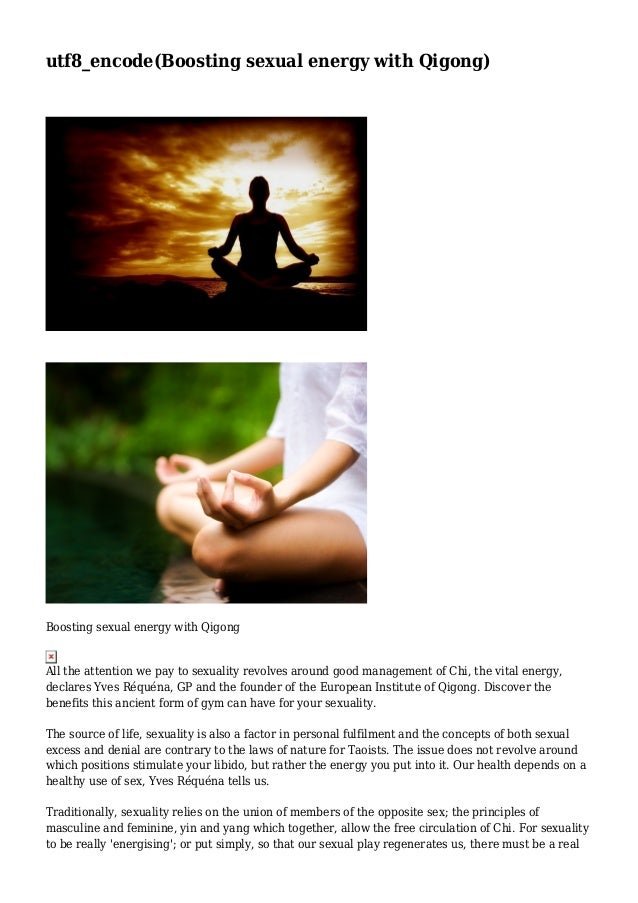 Boosting sexual energy with Qigong