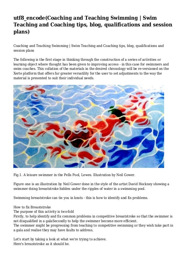 Coaching and Teaching Swimming | Swim Teaching and Coaching tips, blog, qualifications and session plans