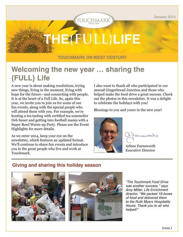 Touchmark on West Century - January 2014 Newsletter