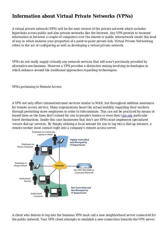 Information about Virtual Private Networks (VPNs)