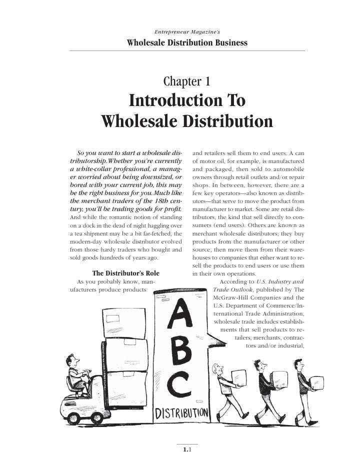 Entrepreneur Magazine's                      Wholesale Distribution Business                                    Chapter 1 ...