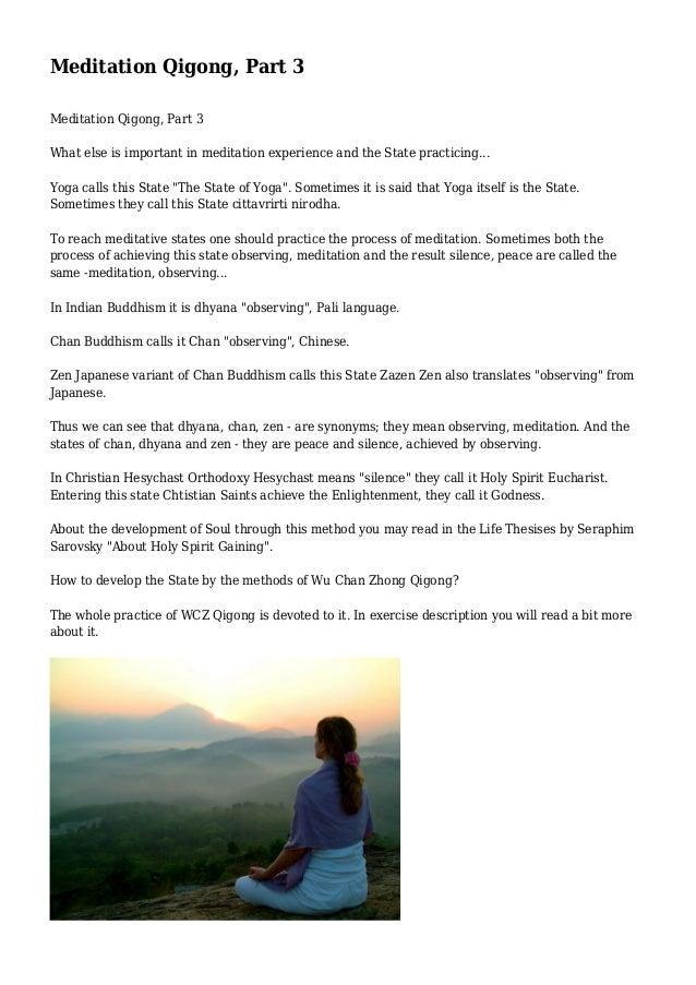 Meditation Qigong, Part 3