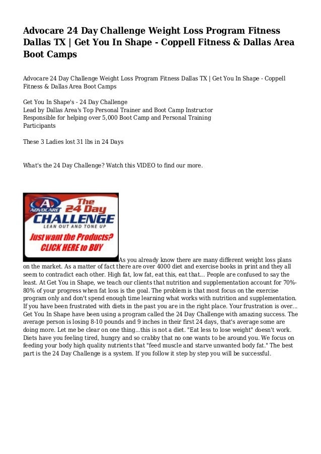 Day Challenge Weight Loss