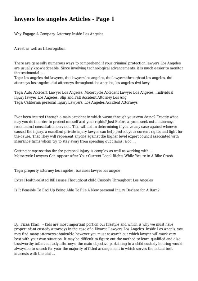 lawyers los angeles Articles - Page 1