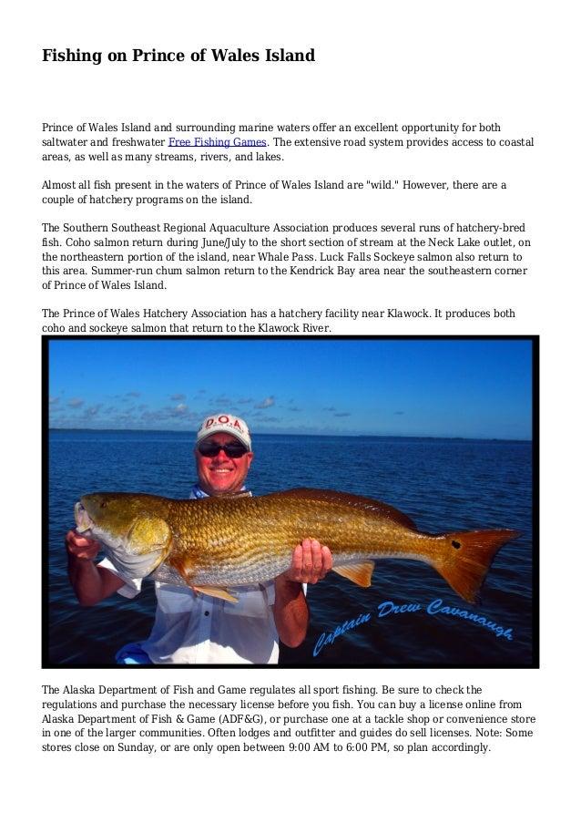Fishing on prince of wales island for Prince of wales island fishing