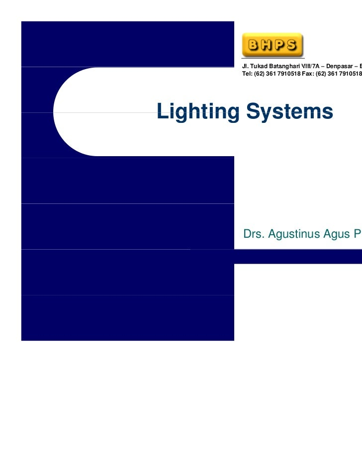 13990389 Hotel Engineering Training Lighting System