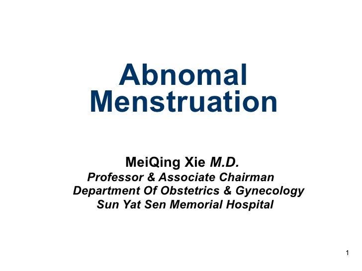 13 abnomal menstrustion