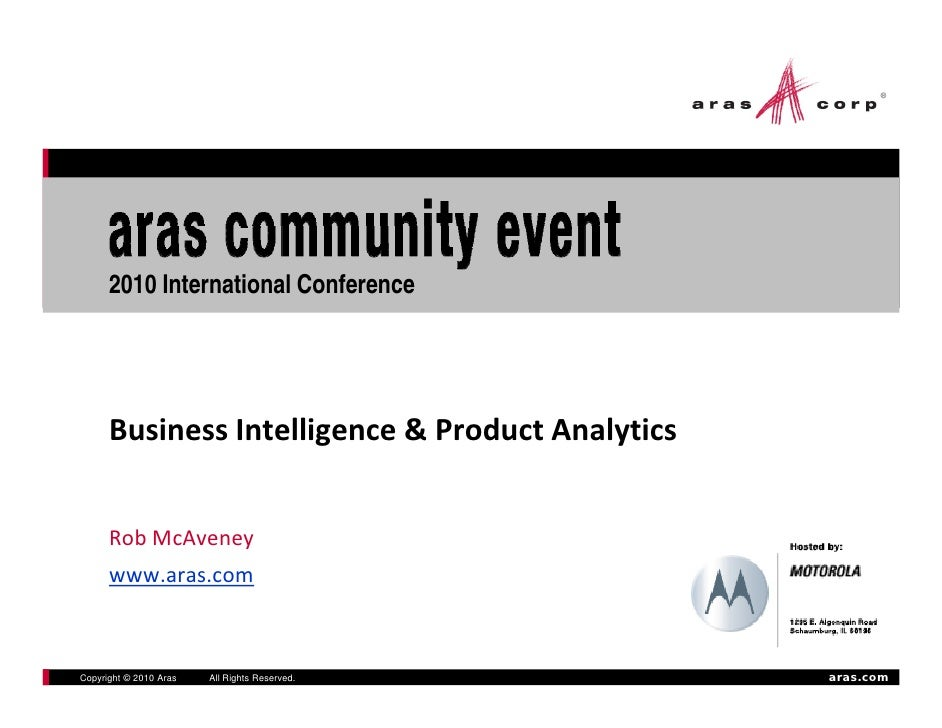 13 Ace 2010 Business Intelligence And Product Analytics