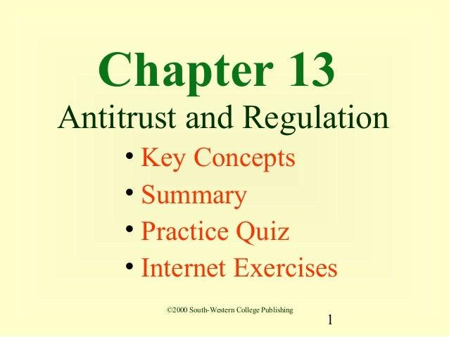 13 antitrust and regulation