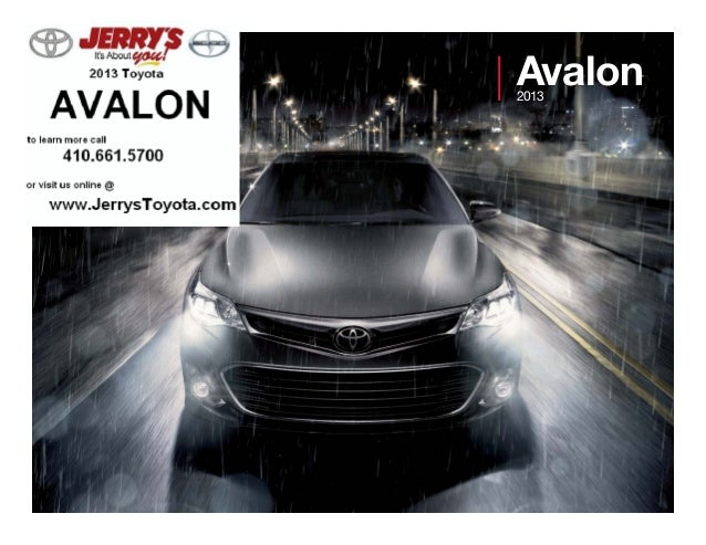2013 Toyota Avalon at Jerry's Toyota in Baltimore, Maryland