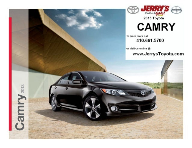 2013 Toyota Camry at Jerry's Toyota in Baltimore, Maryland