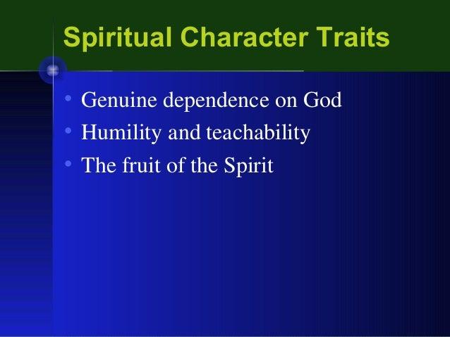 Spiritual Character Traits Spiritual Character Traits