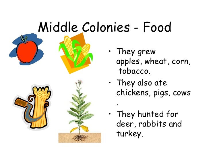 New Jersey Colonies Food