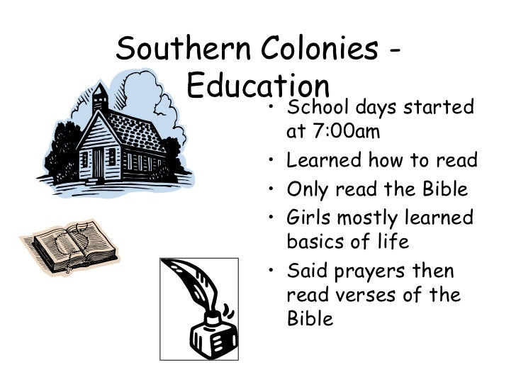 Southern colonies clothing
