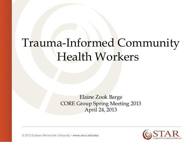 Trauma-Informed Community Health Workers_Elaine Zook Barge_4.23.13