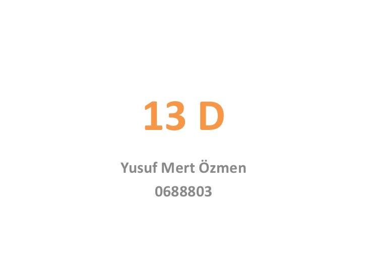 13 DYusuf Mert Özmen    0688803