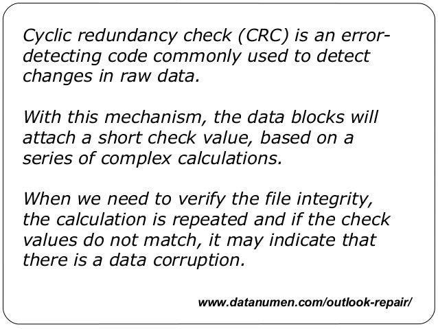 How to Fix a Cyclic Redundancy Check Error forecast