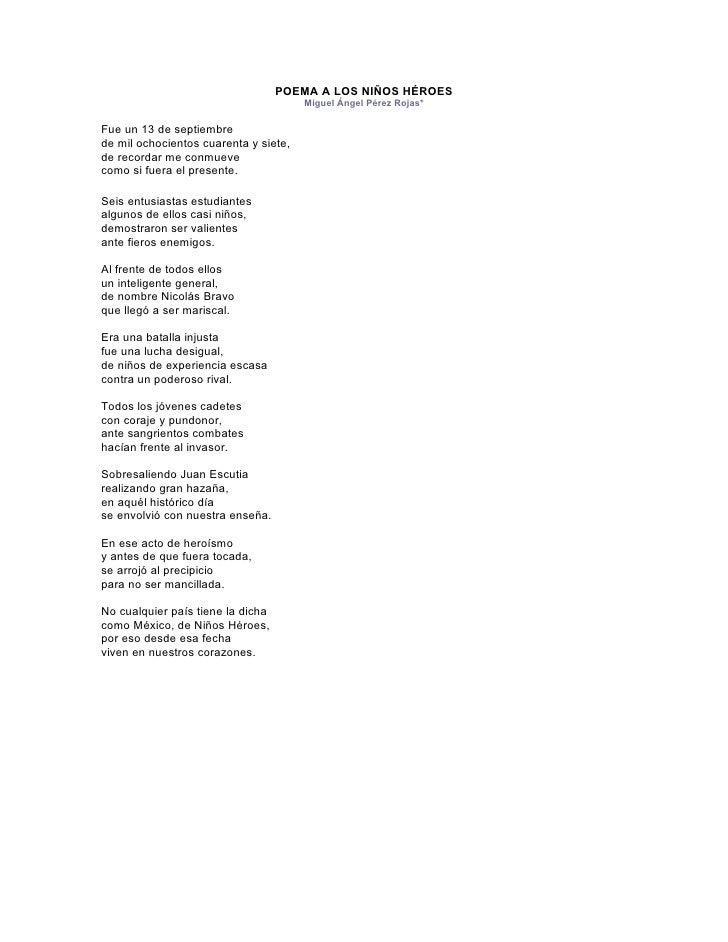 POEMA A LOS NIÑOS HÉROES Miguel Ángel Pérez Rojas*Fue un 13 de