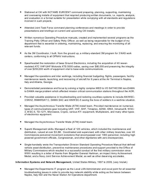 satcom and management resume