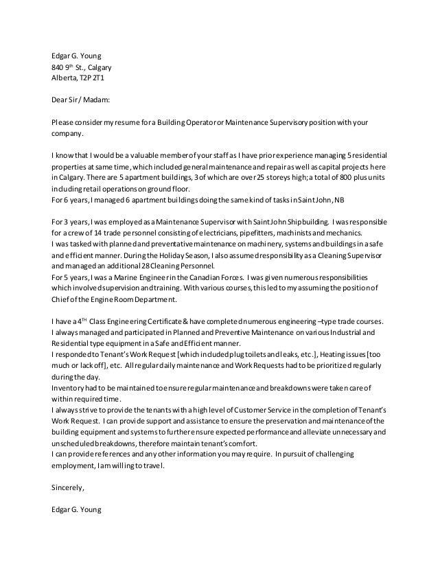 resume cover letter 2015
