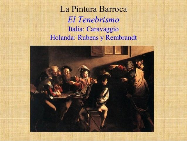 13 el barroco. pintura italiana y holandesa