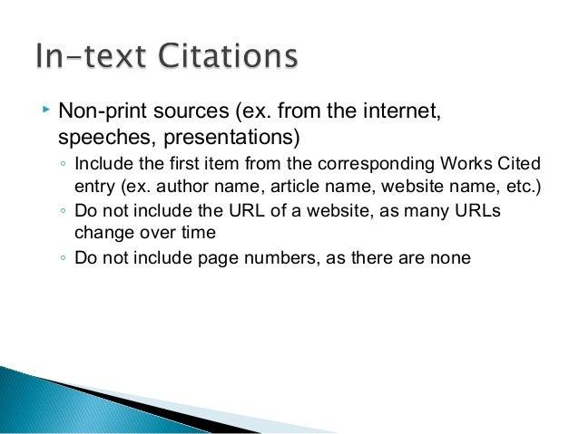 citations in essay