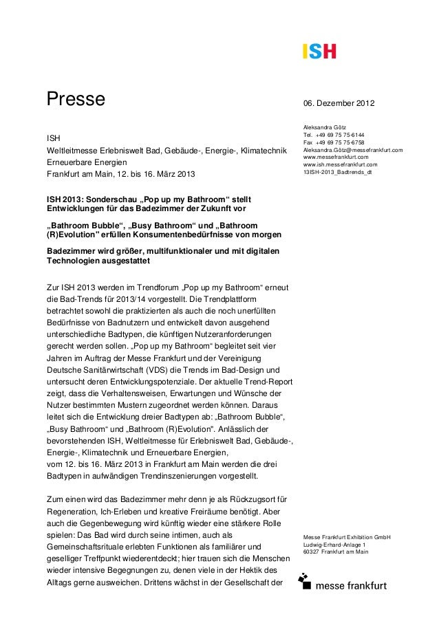 Presse                                                                06. Dezember 2012                                   ...