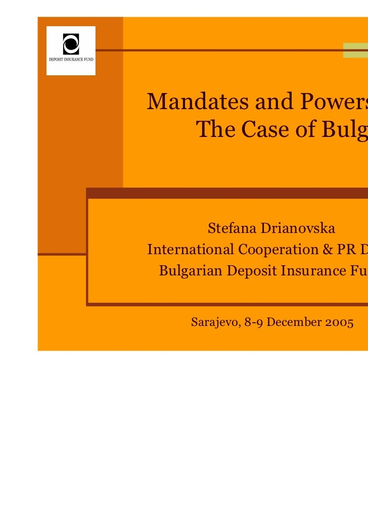 Mandates and Powers of a DI: The Case of Bulgaria