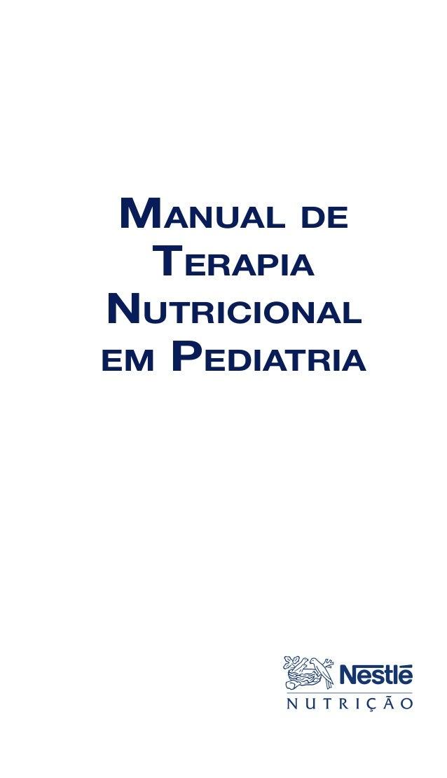 1 MANUAL DE TERAPIA NUTRICIONAL EM PEDIATRIA