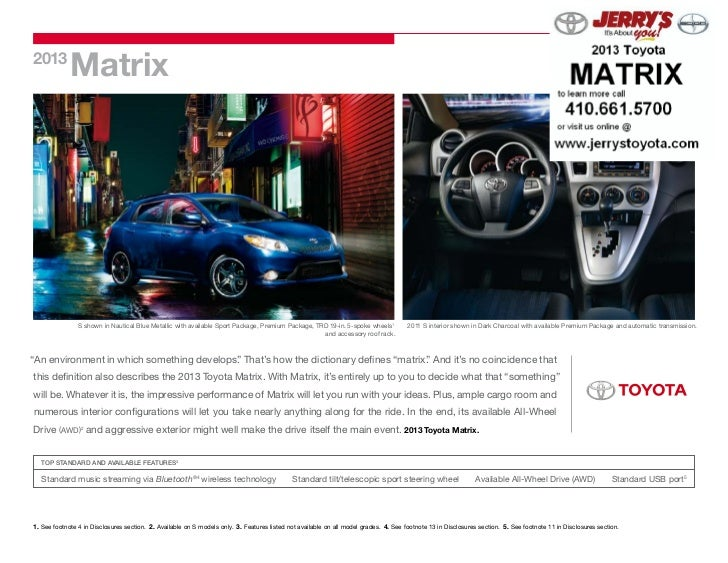 2013 Toyota Matrix at Jerry's Toyota in Baltimore, Maryland