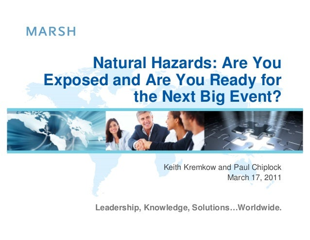 Natural Hazards: Are YouExposed and Are You Ready for          the Next Big Event?                     Keith Kremkow and P...