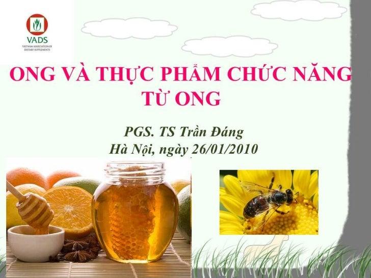 Ong và TPCN từ ong