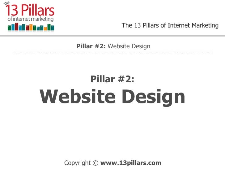 Pillar #2: Website Design Pillar #2:  Website Design