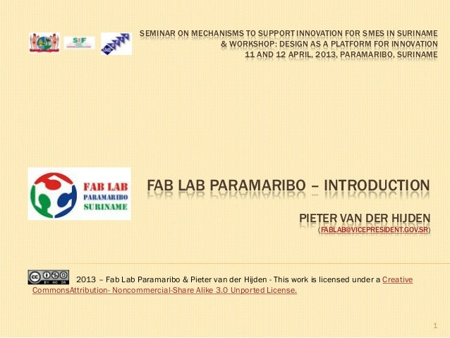 Fab Lab Paramaribo - introduction