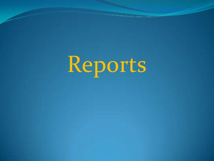Reports<br />