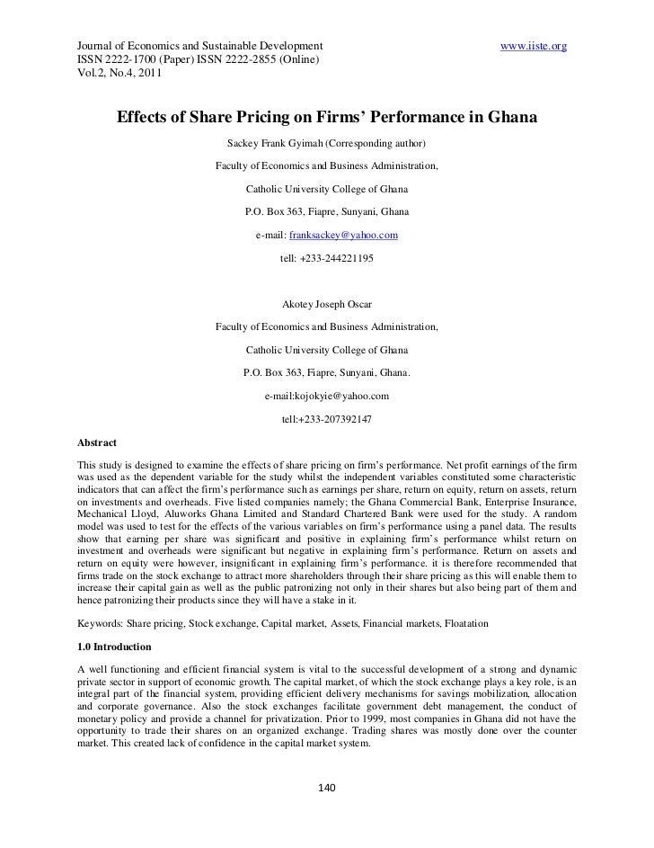 Journal of Economics and Sustainable Development                                                     www.iiste.orgISSN 222...
