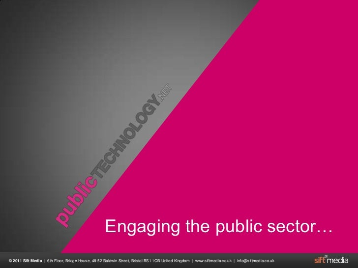 Engaging the public sector…<br />