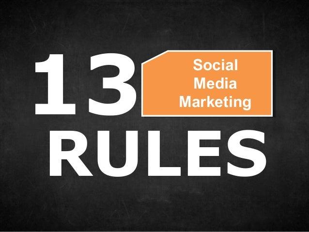 13SocialMediaMarketingRULES