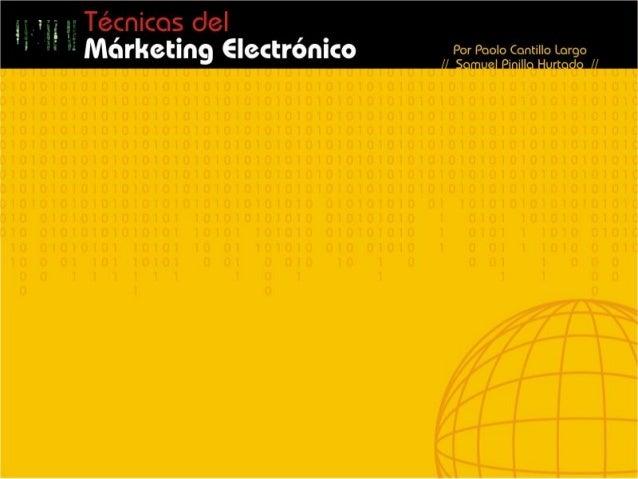 Técnicas del márketing electrónico