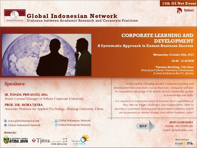 GI Net 13 - Corporate Learning and Development - A Systematic Approach to Ensure Business Success