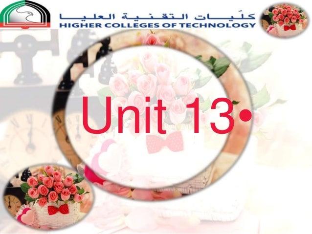 •Unit 13