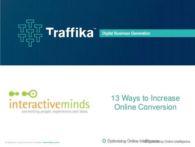 13 Ways to Increase Online Conversion - Andrew Lane
