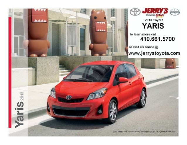 2013 Toyota Yaris at Jerry's Toyota in Baltimore, Maryland