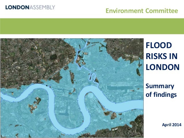 Environment Committee FLOOD RISKS IN LONDON Summary of findings April 2014