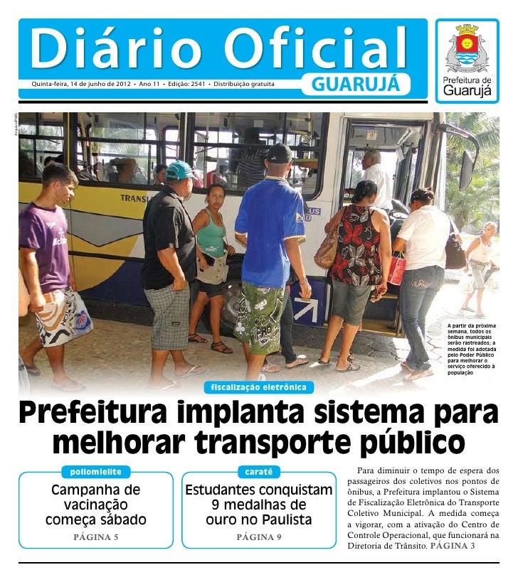 Diário Oficial de Guarujá - 14 06-2012