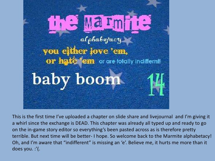 The Marmite alphabetacy 14