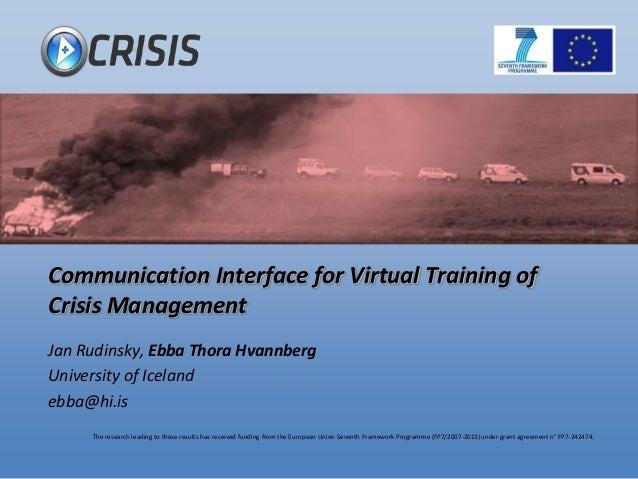 Communication Interface for Virtual Training of Crisis Management
