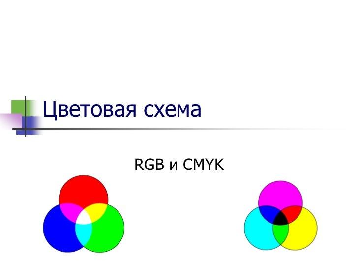 16. Цветовая схема RGB