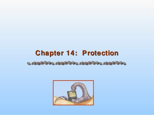 Chapter 14: ProtectionChapter 14: Protection