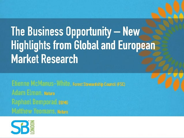 The Business Opportunity - New Highlights from Global and European Market Research